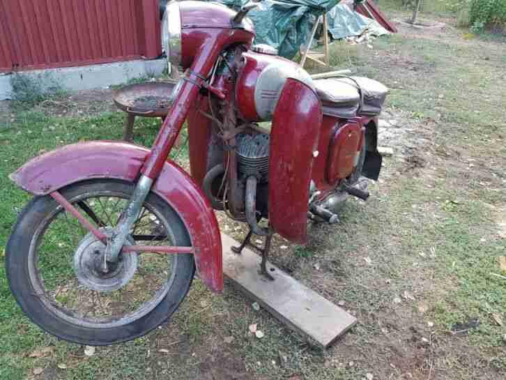 Motorrad JAWA 355 Baujahr 1959 ==> zum kompletten Restaurieren