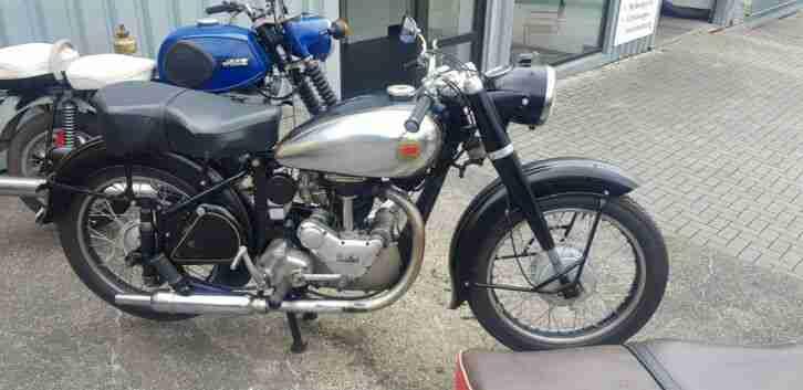 Motorrad Oldtimer Svalan L 75 mit Panther Motor 350 ccm
