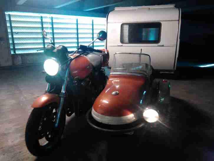 Motorradgespann Honda CB 1000 F mit Ahk.und Tüv