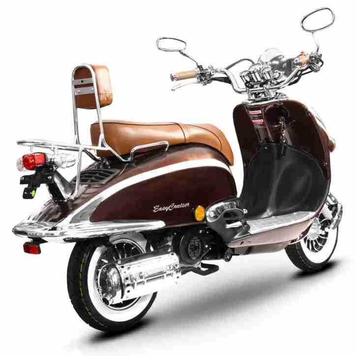MotorRoller Retro Roller 125 CCM 90 KmH braun - Bestes