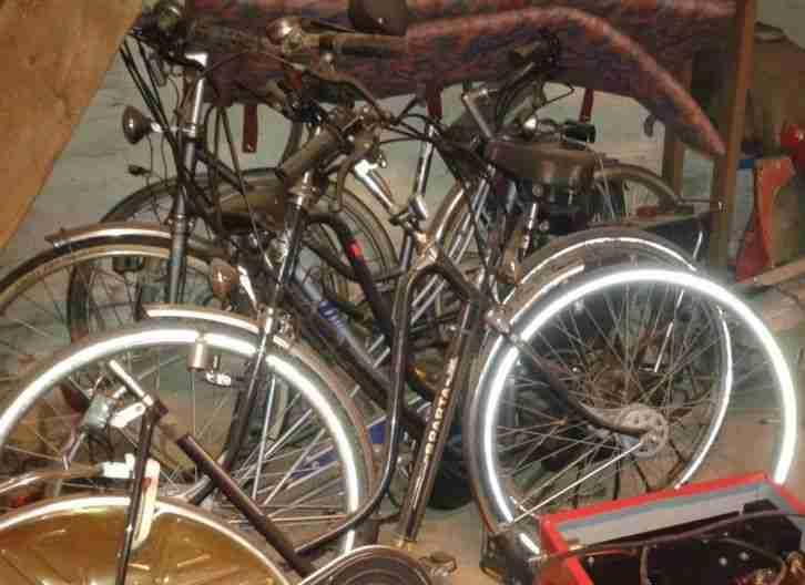 Oldtimer HERCULES SPARTA Saxonette Fahrrad mit Motor als Ersatzteil
