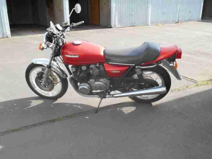 Oldtimer Kawasaki KZ 650 mit Speichenräder Original, Unfallfrei,