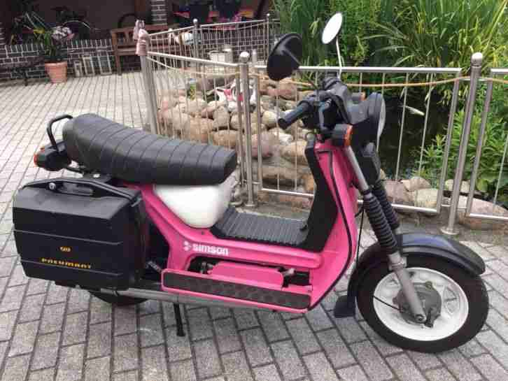 Original Simson Roller SR50 1 Bj.1989 4 Gang 1.Hd Papiere 60km h Fast Werksneu