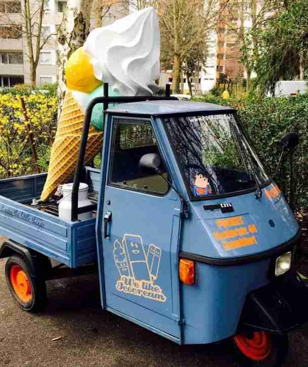 Piaggio Eiswagen TM 50 Gelato Moped Mofa Werbung Werbefahrzeug Einzelstück 50ccm