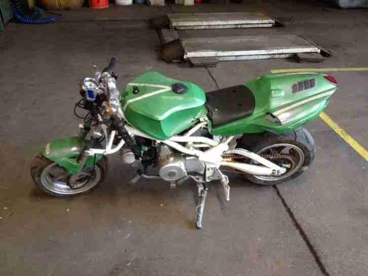 Poketbike Minibike 107ccm, Bastlerobjekt .Text lesen !!