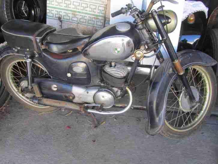 Puch 150TL Doppelkolben Oldtimer Motorrad 1952 deutsch. KFZ Brief Burger Auspuff