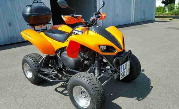 quad kawasaki kfx 700 ez 12 2003 orange mit bestes