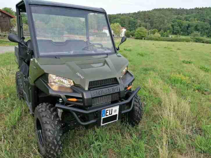 Quad Polaris Ranger 570 EFI,EPS,4x4,LOF,AHK 1,4 Tonnen,Halbkabine,neuwertig