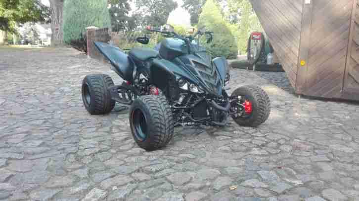 Quad Yamaha Raptor YFM Special Umbau Supermoto und Motor Ducati 999