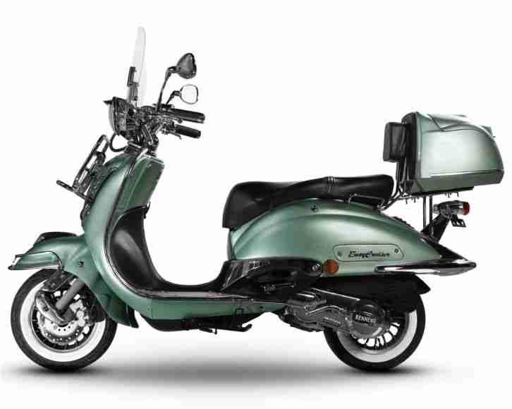 retro roller chrom scooter 125 ccm motorroller bestes. Black Bedroom Furniture Sets. Home Design Ideas