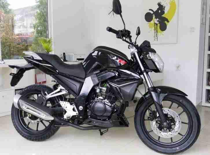 ROMET RXC NAKED BIKE 125 ccm Motorrad, SCHWARZ, NEUFAHRZEUG mit Tageszulassung