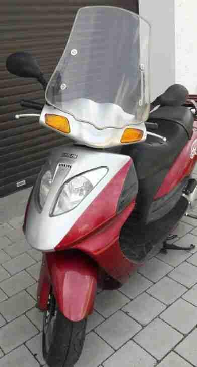 Roller DAELIM NS 125 ccm weinrot Motorroller LKRAD TÜV Windschutz