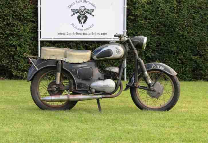 SHL 175cc lauft und schaltet gut in erster lack mit ein schöner patina ca 1961