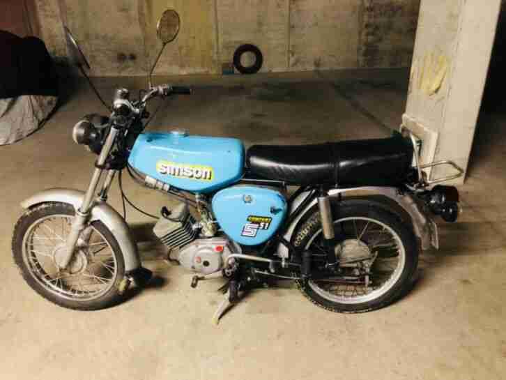 Simson S50 S51 blau Bj 89 Oldtimer 50 ccm 60 kmh dt Versicherung