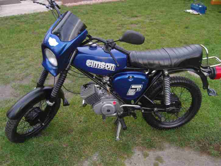 simson s51 enduro 4 gang baujahr 1988 moped ddr bestes. Black Bedroom Furniture Sets. Home Design Ideas