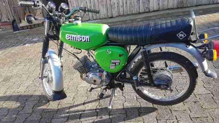 Simson S51Elektronik KBA Papiere 4 Gang Top