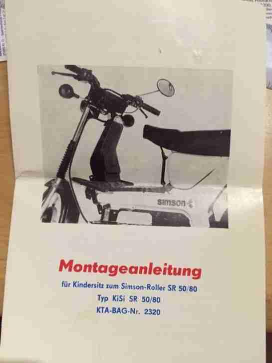 Simson Sr 50 Kindersitz Original Mit Bestes Angebot Von
