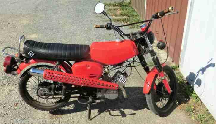 Simson s50 B1 Bj. 1979 rot Enduroauspuff Crosslenker Originalpaiere fährt gut