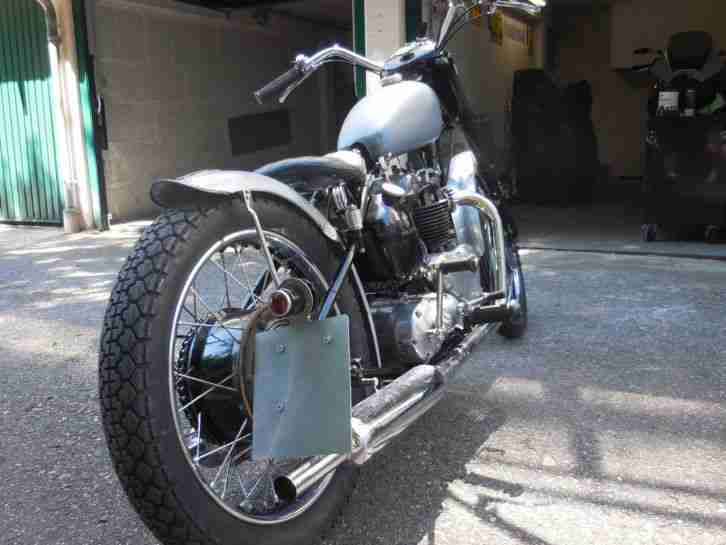 Triumph 5T Speed Twin 1949 pre unit Bobber mit TÜV!!!