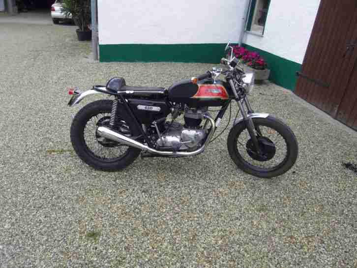 Triumph T 120 E Bonie Boneville 650 OIF Cafe Coffee Racer