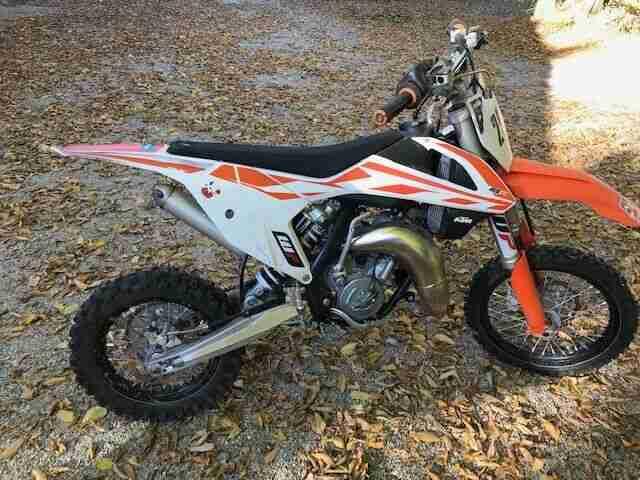 Verkaufe eine gepflegte KTM SX65 Kindermotocross Schaltgetriebe