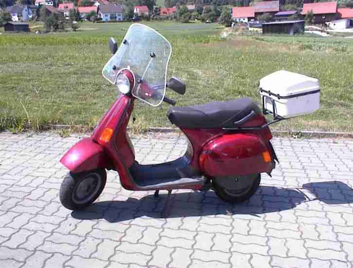 vespa cosa 200 rot mit windschild e starter t v bestes. Black Bedroom Furniture Sets. Home Design Ideas