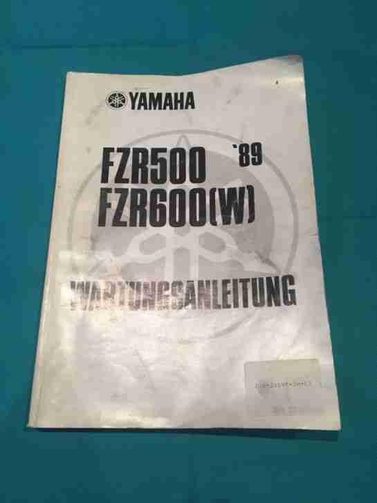 Wartungsanleitung YAMAHA FZR 500 600 (W)