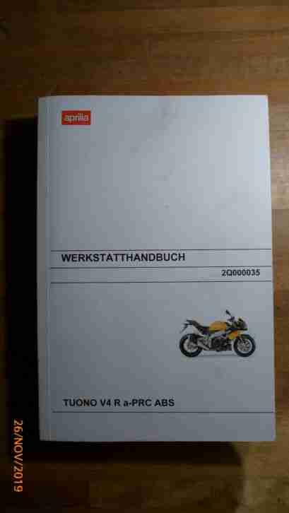 Werkstatthandbuch Aprilia Tuono 1000 V4R a PRC ABS