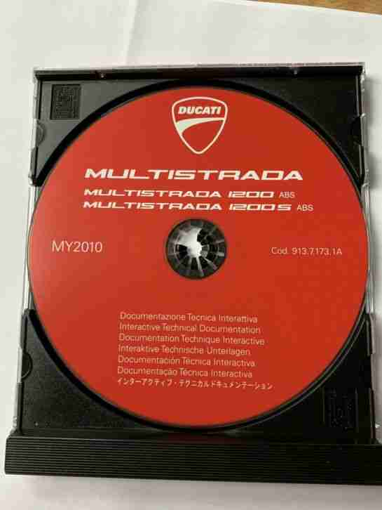 Werkstatthandbuch (CD) Multistrada1200s Model2010