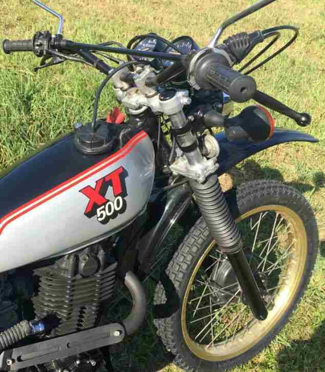 Yamaha XT 500 Enduro Top Zustand 1980 20 KW TÜV Reifen neu Goldräder
