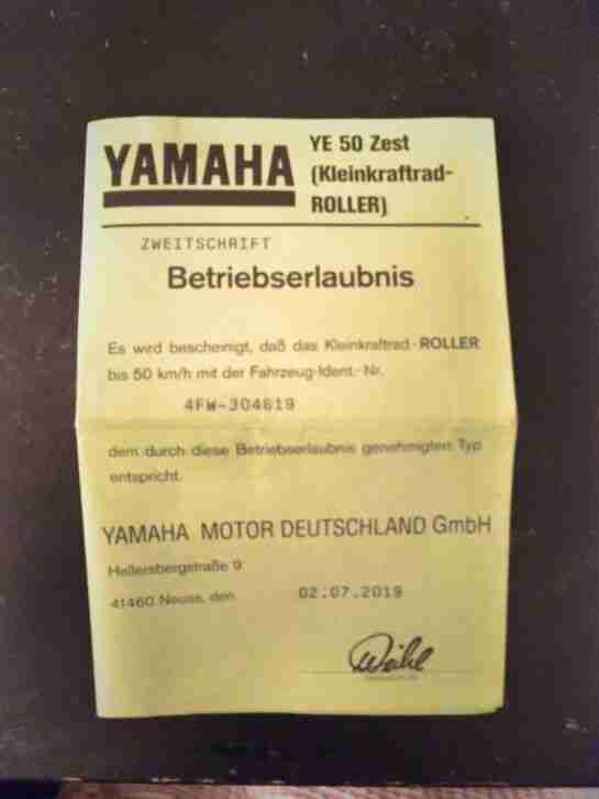 Yamaha YE 50 Zest (Typ 4FW)