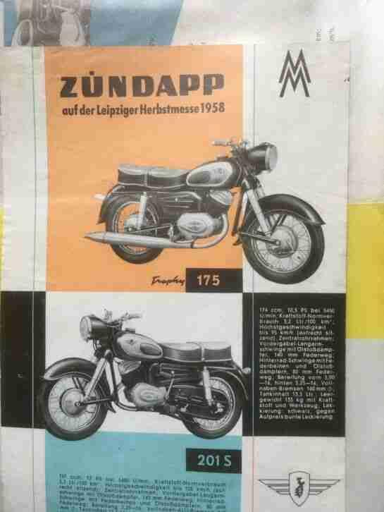 Zündapp 201 S Original DDR Import