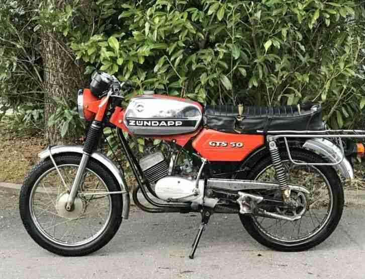Zündapp Mokick GTS 50 ccm Bj. 1976 mit Betriebserlaubnis Oldtimer Moped
