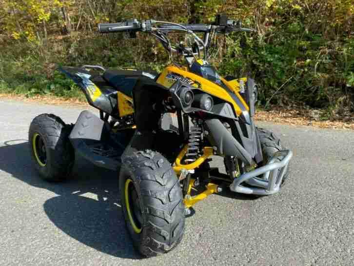 Nitro Kinder Elektro Quad Avenger 1200 Watt 48V bürstenloser Motor gelb