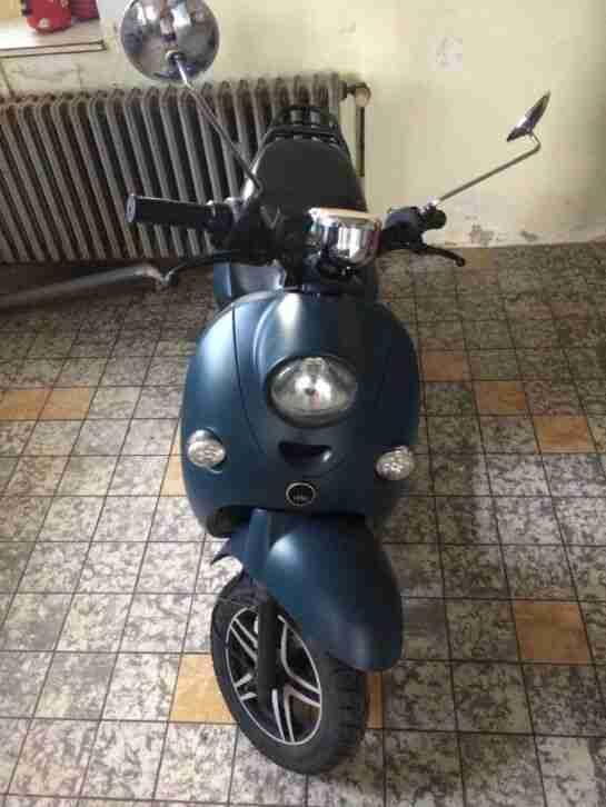 unu 3KW ZWEI AKKUS matte blue navy blau E Roller Elektroroller Elektro Scooter